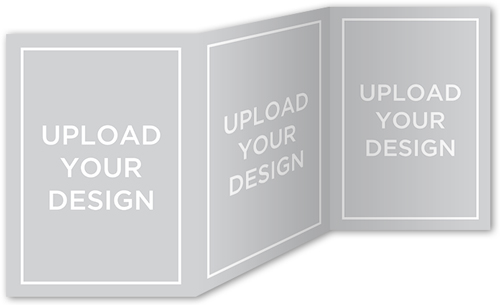 Upload Your Own Design 5x7 TriFold Stationery Card by
