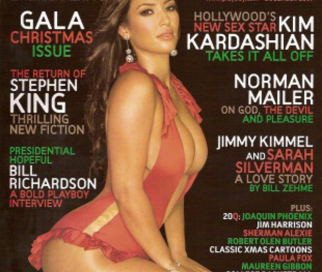 Kim Kardashian Is Featured On The December 2007 Cover Of Playboy