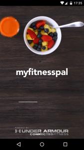 Myfitnesspal - Splash screen stage 1