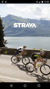 Strava splash screen for cyclists
