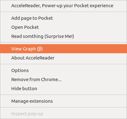 AcceleReader - More quick actions from browser button