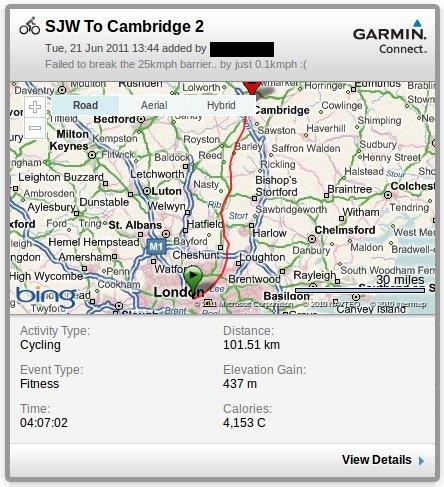 SJW To Cambridge - 2