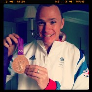 Chris Froome with his Bronze medal