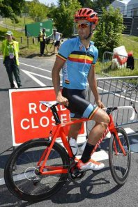 Tom Boonen looking in good shape on recce of RR circuit at Box Hill