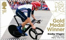 Bradley Wiggins' Gold Medal Winner's Stamp