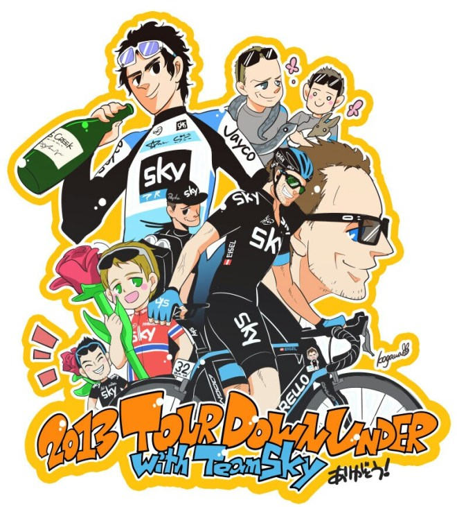 Manga Team Sky @ Tour Down Under 2013