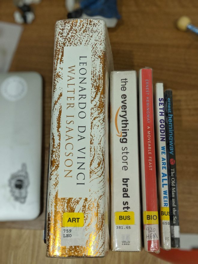 Books from the library