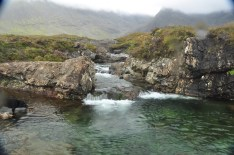 Fairy ponds on Skye - itching to get in (both of us)