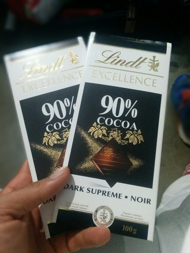 Lovely surprise - Lindt dark chocolate
