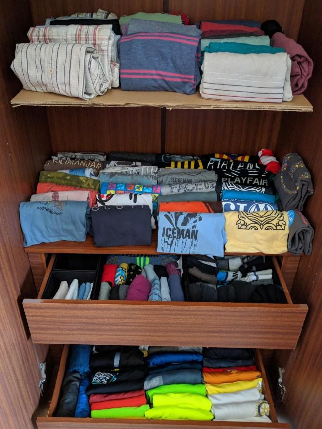 Post konmari closet setup