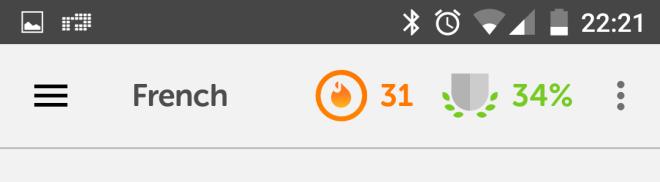 31 day streak - Duolingo