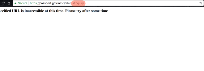 Enquiry = error page