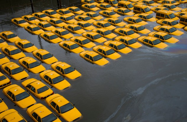 Hurricane Sandy - Yellow Cabs Grey Water