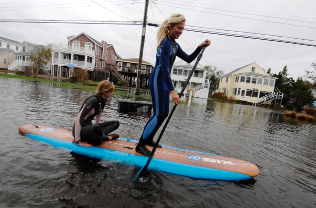 Hurricane Sandy - Paddle Board