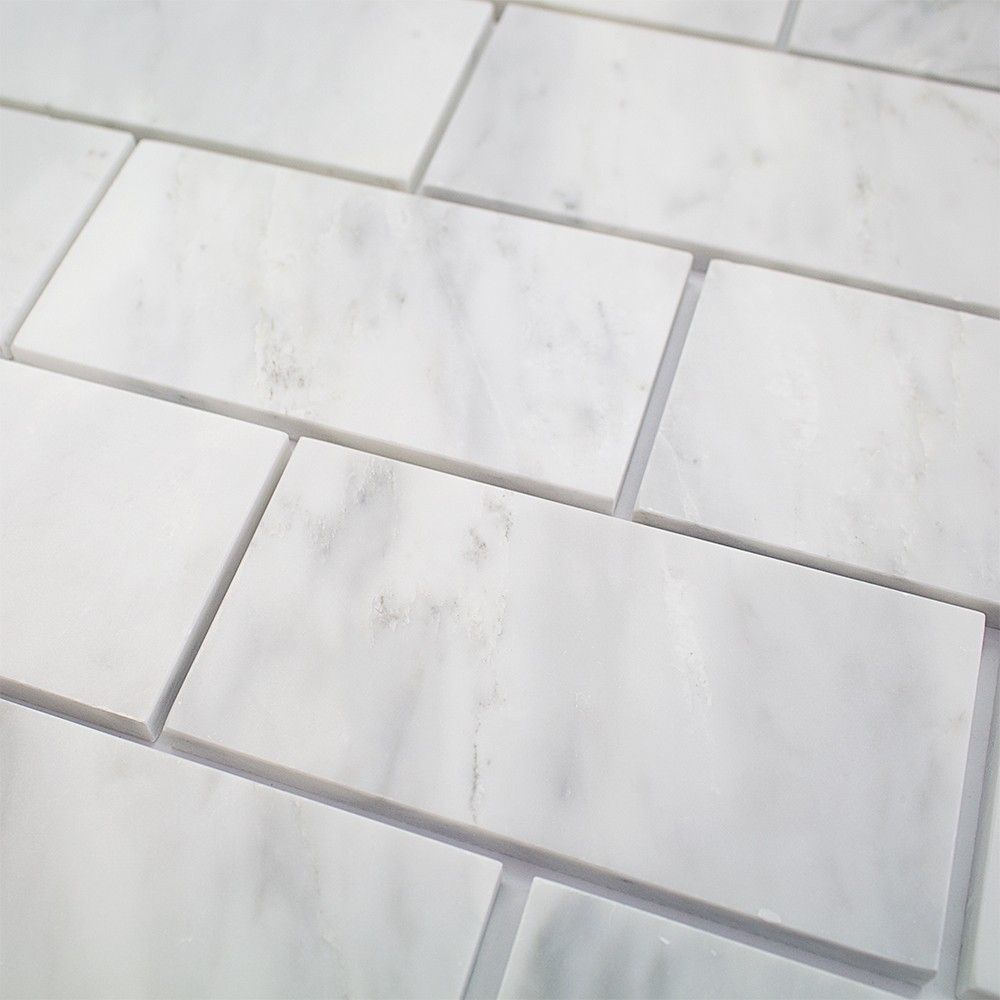 Asian Statuary 3x6 Polished Marble Tile  TileBarcom