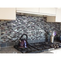 Loft Ash Gray Frosted 3x6 Glass Tile 3