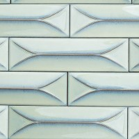 Byzantine Alice Blue 3D Ceramic Tile