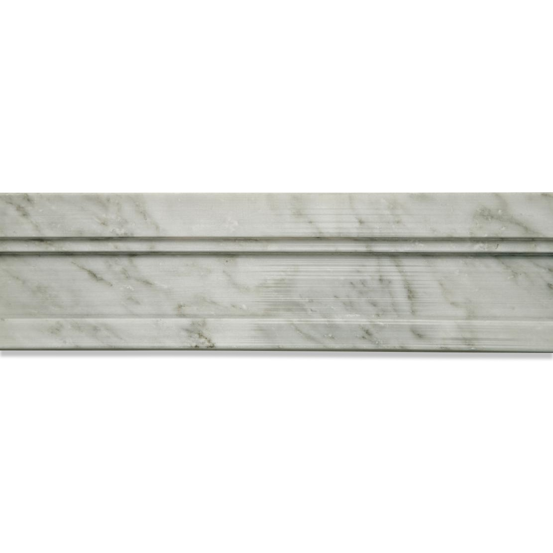 Chair Rail Tile Shop 2 X 12 Novel Chair Rail Polished Marble Tile Liner In