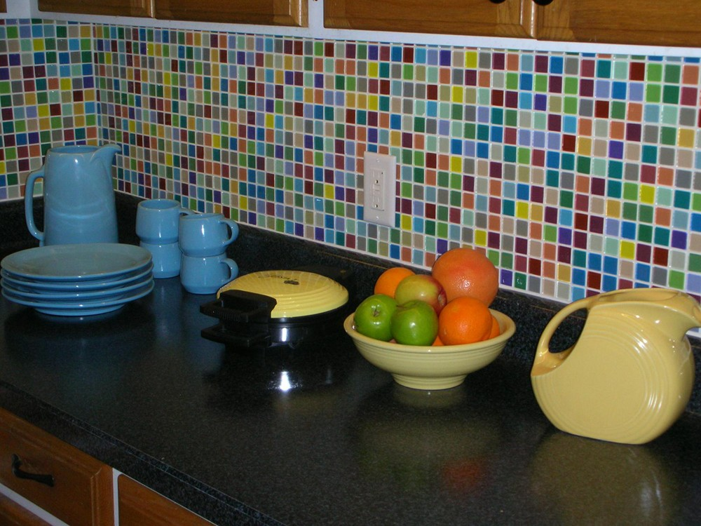 Fruit Platter 1X1 MultiColored Polished Glass Tile