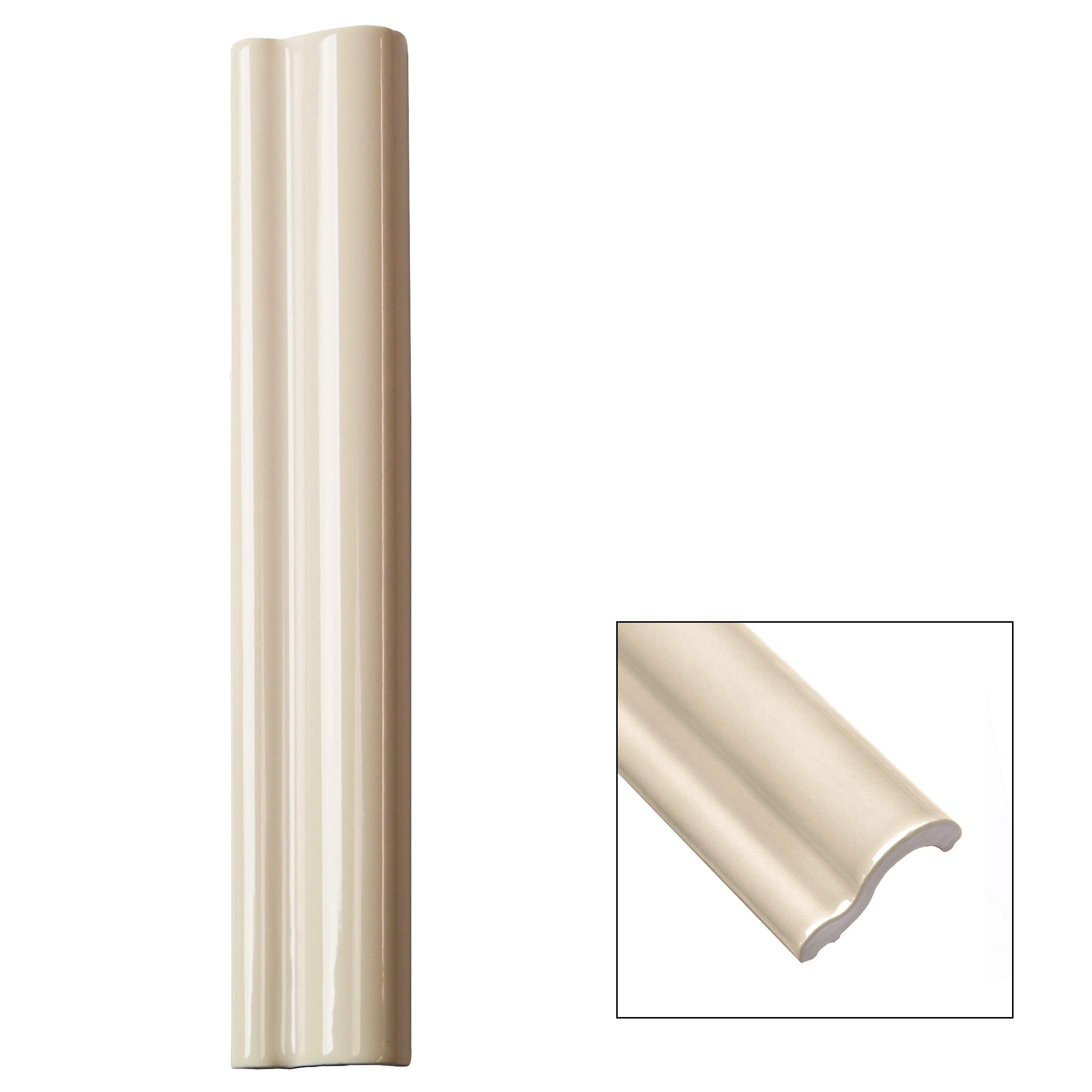 Piccadilly Vanilla Chair Rail Ceramic Tile Liner