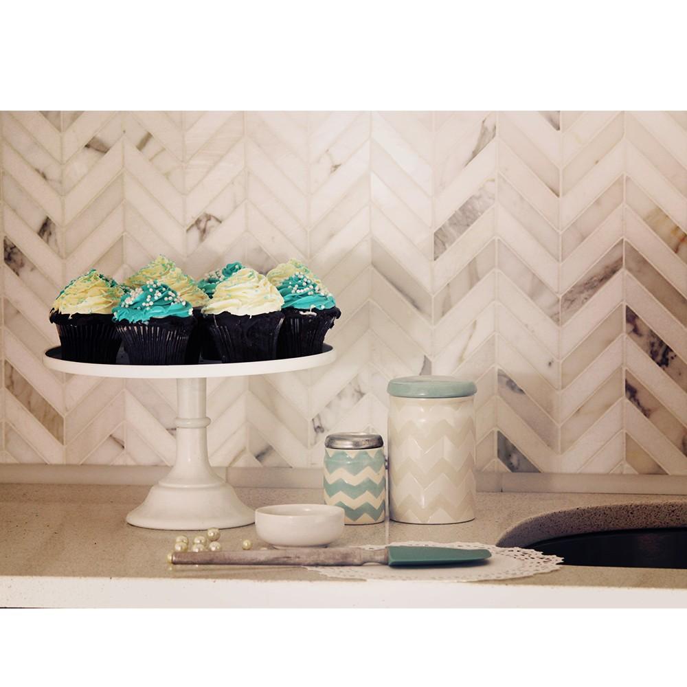 marble top kitchen cart chicken decor for talon calacatta and thassos tile