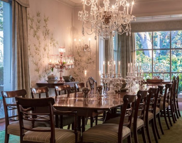 William H. Doheny mansion dining room.