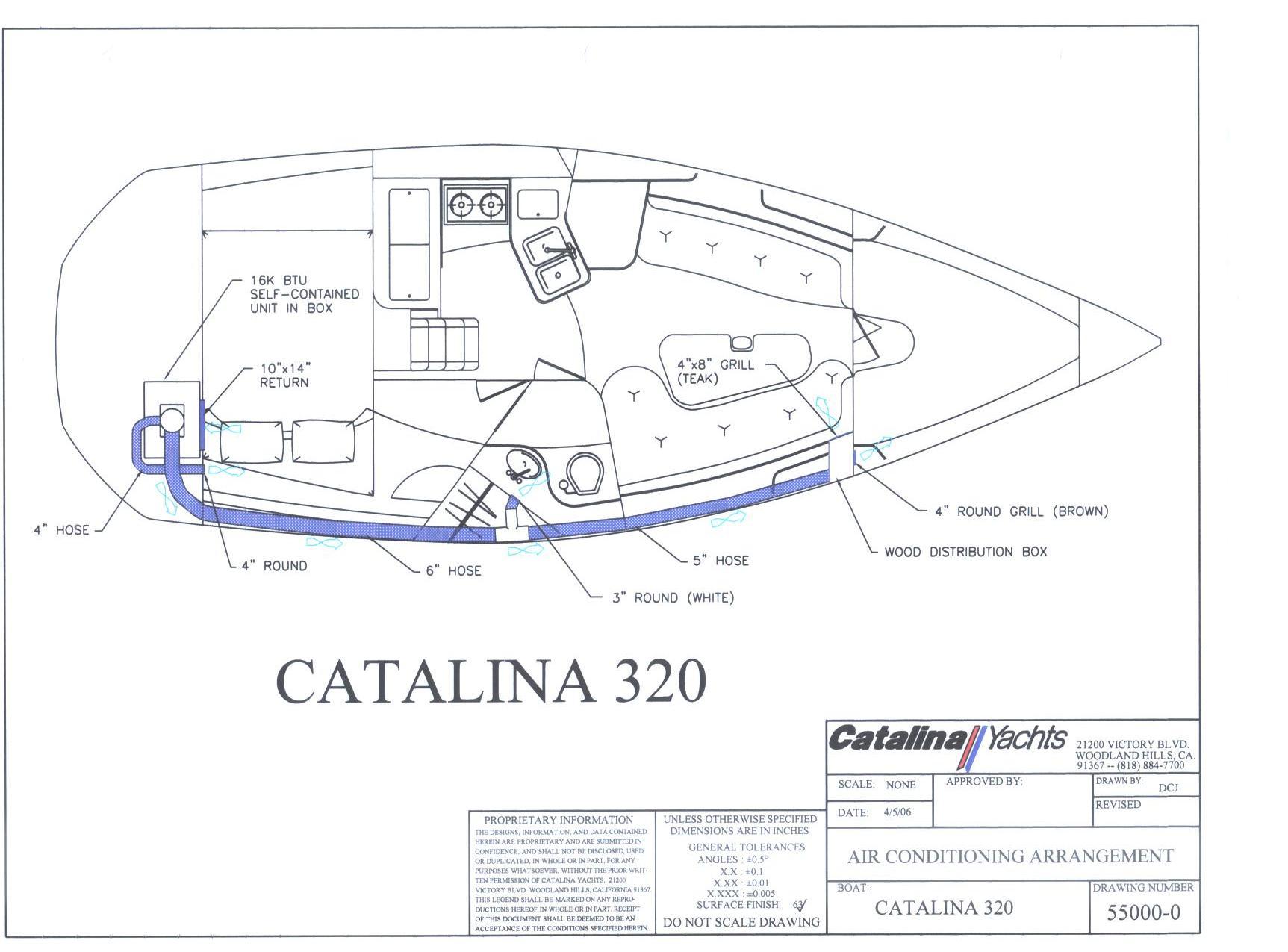 Catalina 320 International Association: Routing Ducting