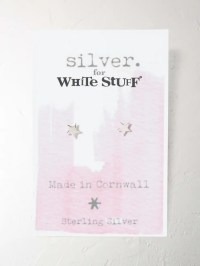 Sterling Silver Star Earrings (Silver) | White Stuff