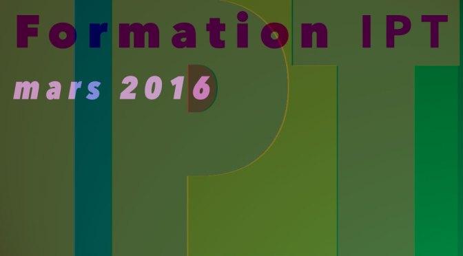 Formation IPT, Therapie Psychologique Integrée. 23,24 et 25 mars 2016
