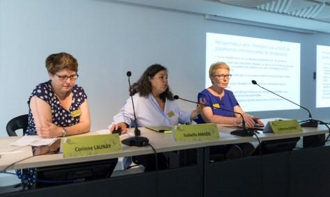 Corinne Launay, Isabelle Amado et Catherine Doyen