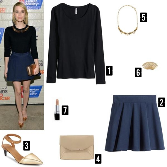 Recriação do look da Emma Roberts