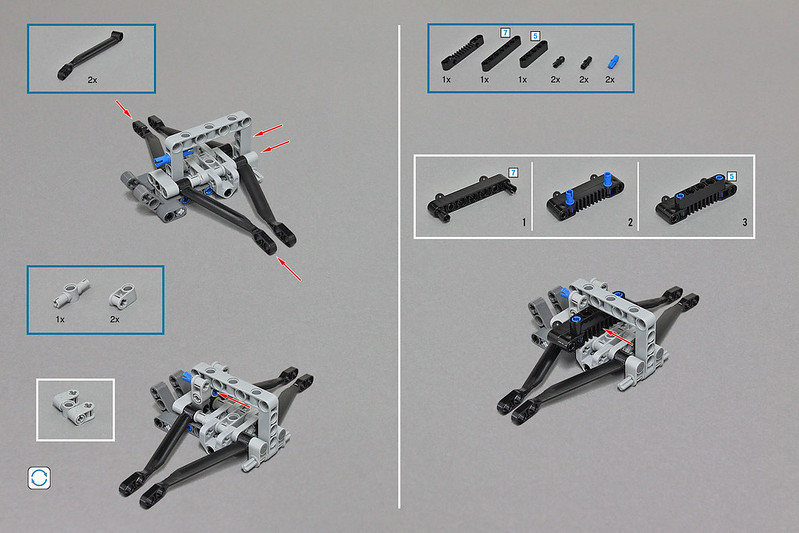 LEGO MOC-5979 LEGO Technic Snowmobile With SBrick (Technic