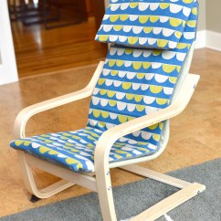 Ikea Toddler Chair Folding For Massage Cushion Prepping Christmas Kids Poang Slipcover