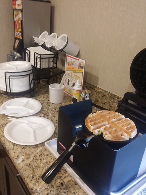 Hotel waffle maker, breakfast of kings