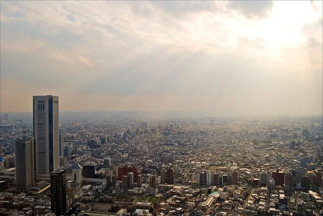 Sun Shining on the City