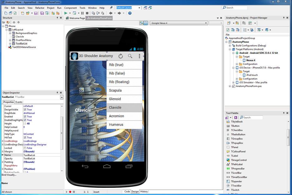 Appmethod IDE; Nexus 4 upright unlike at TechCrunch