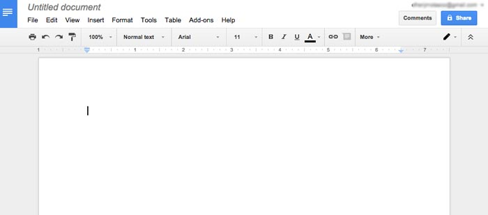 How to create word document online step 3