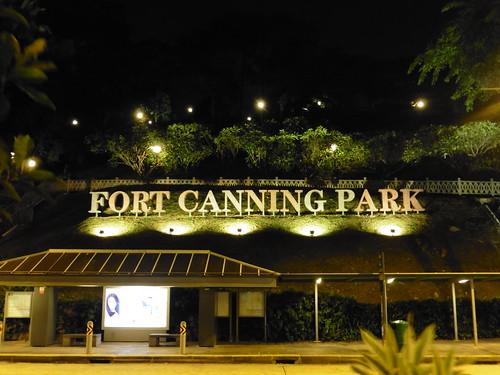 Mirador gratis, situado en Fort Canning Park, en Singapur.
