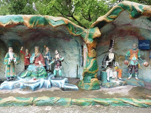 Haw Par Villa en Singapur: confucionismo, taoísmo, budismo, historia y folclore y mitología china... en un lugar friki, raro, curioso e interesante... a la par que bizarro, perturbador y grotesco.