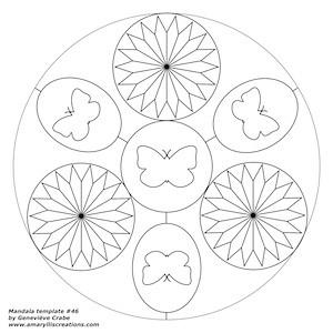 Mandala template 046
