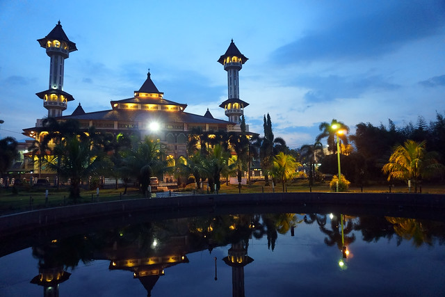 Dusk at Grand Mosque of Cianjur