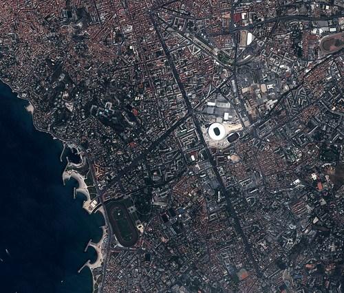 Villes de France et sites particuliers vus de l'espace