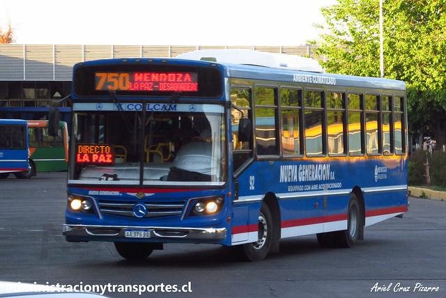 Nueva Generación S.A | Línea 750 Mendoza | La Favorita - Mercedes Benz / AA376BQ
