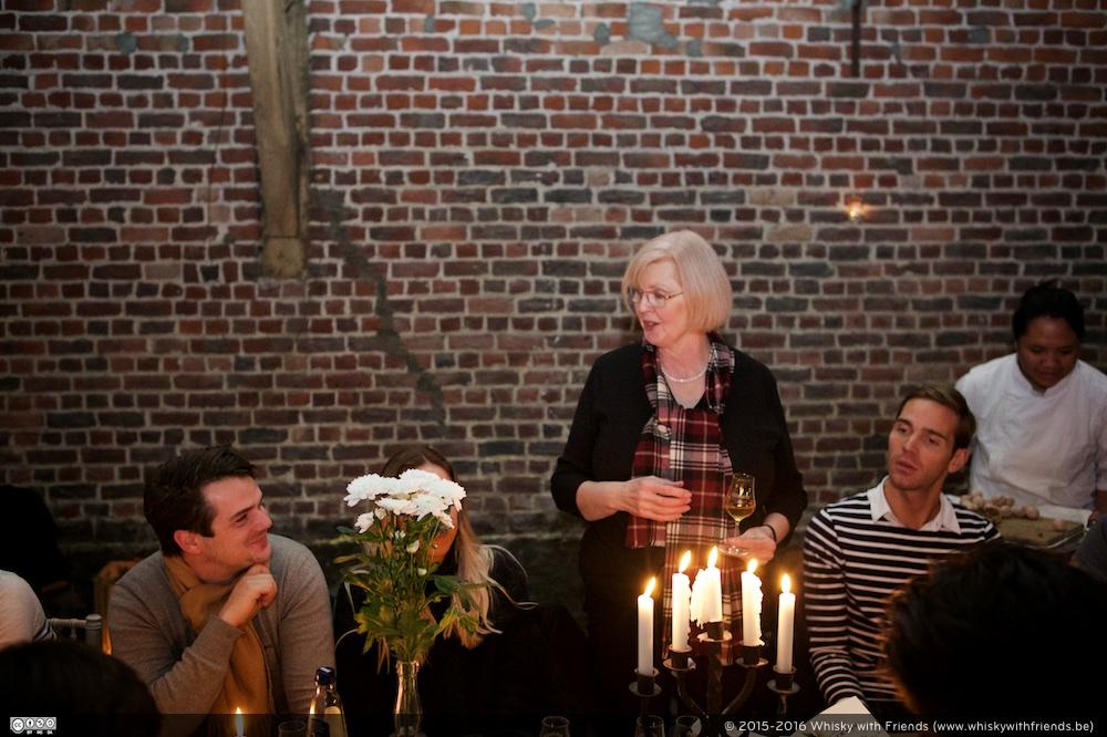 Ann Miller van Aberlour gaf een woordje uitleg over de whiskys