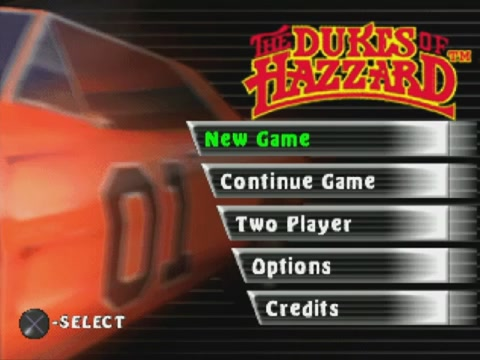 Dukes of Hazzard: Racing For Home title screen