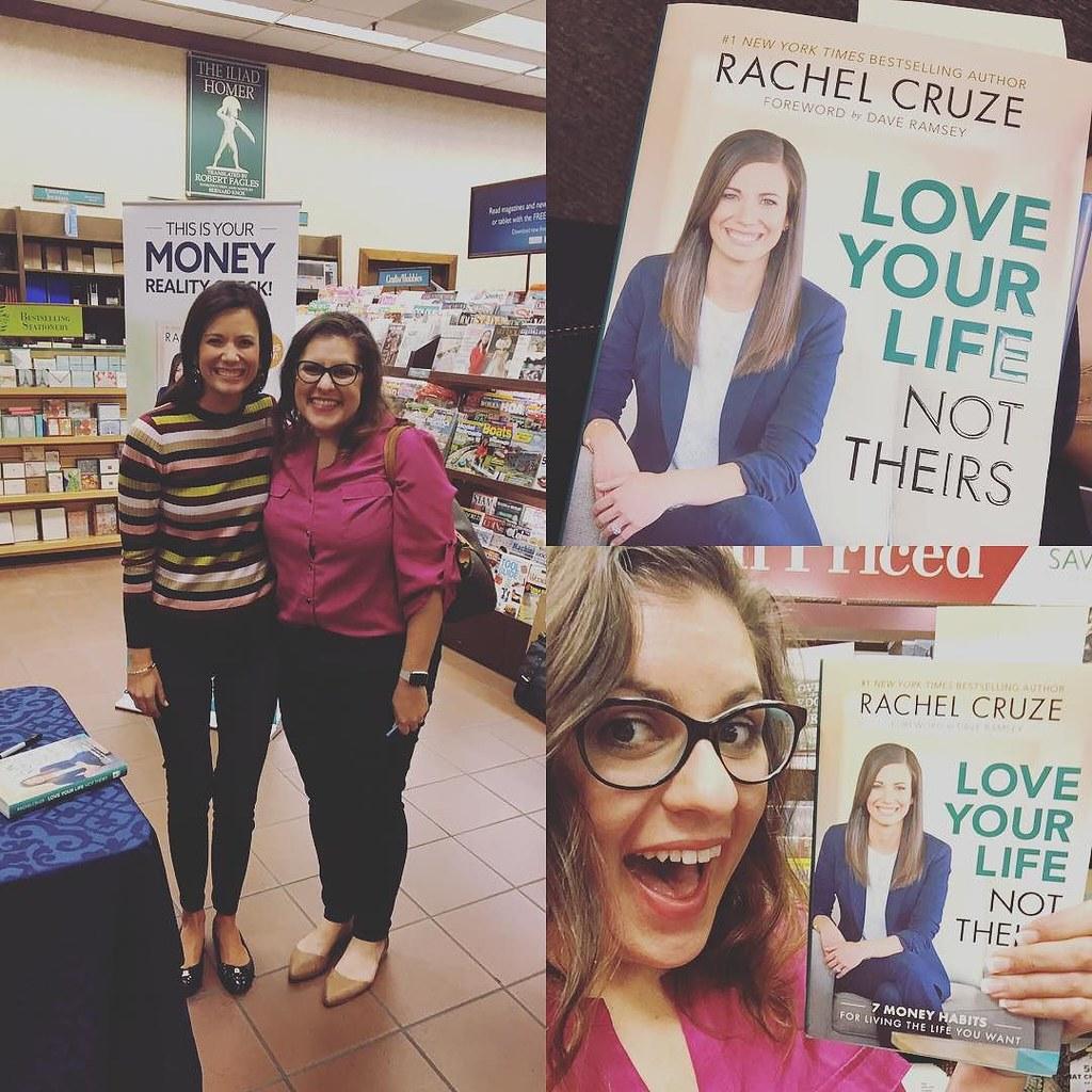 So cool that I got to meet @rachelcruze tonight! Much better than watching the debates. #lylbook #daveramsey #nerdandproud