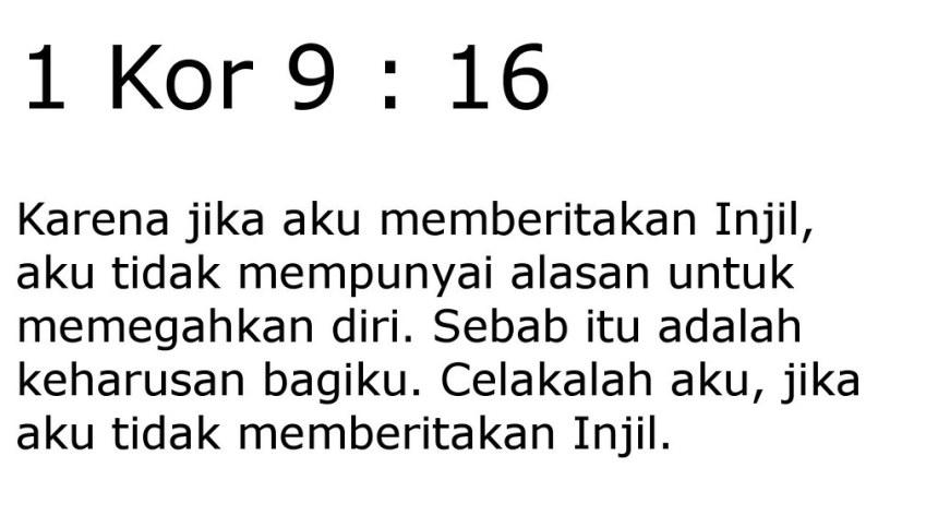 1 kor 9 16