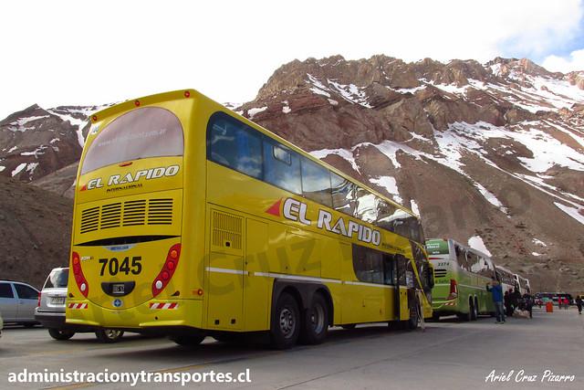 El Rápido Internacional | Paso Los Libertadores | Metalsur Starbus 2 - Scania / OXG574 (7045)