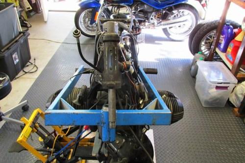 Steering Stem Bar Installed