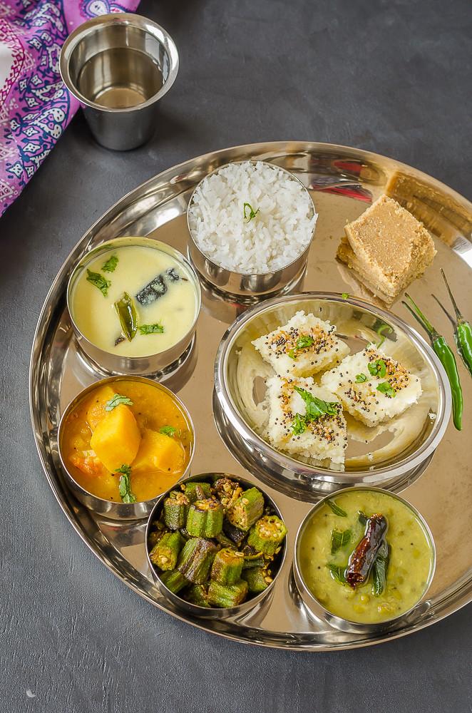 Gujarati Thali, Gujrati Platter, Indian Food, Gujarti Food,